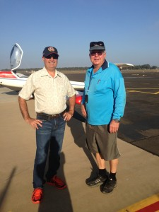 John and I at Bundaberg, getting ready to leave to Barcaldine on the first leg.