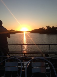 Sunset on the River Cruise - Longreach